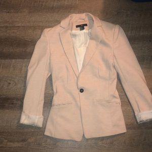 Cream Fitted Blazer
